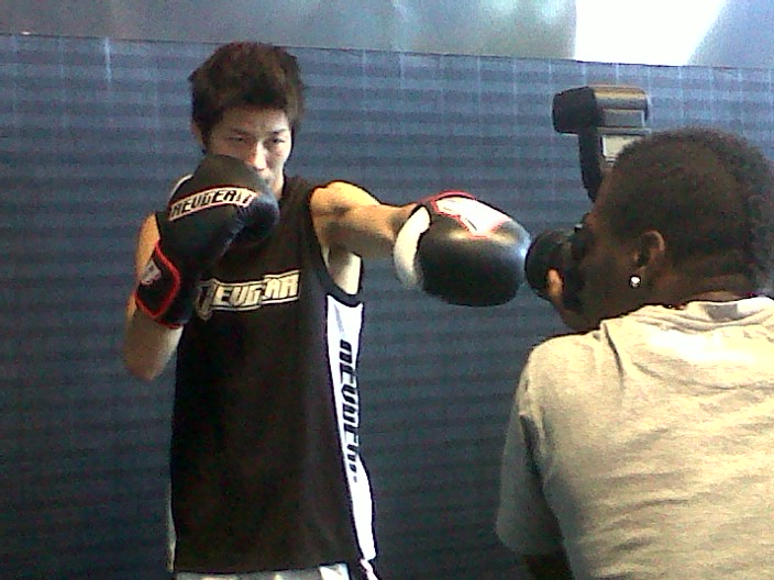 Hatsu Hioki photoshoot with Revgear before UFC137